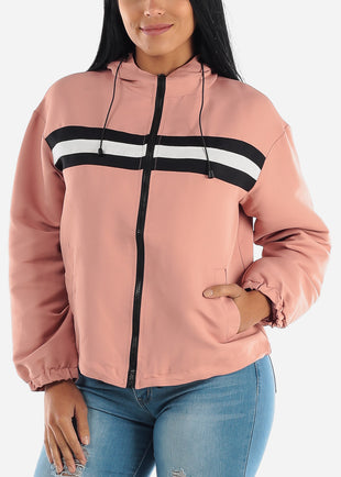 Pink Windbreaker Jacket