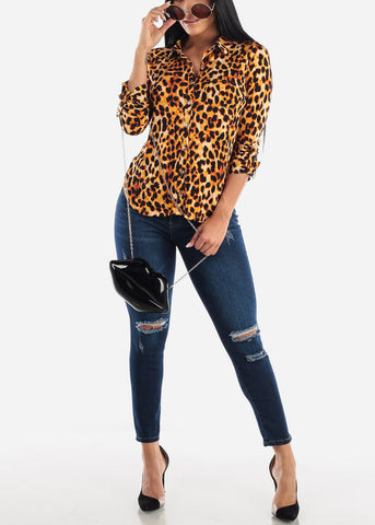 Image of Leopard Button Up Shirt