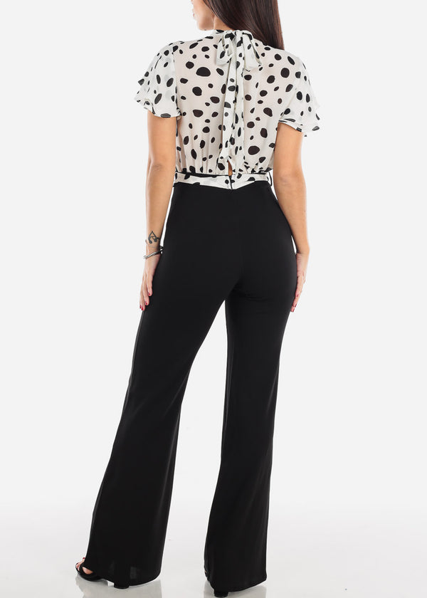 Black & White Polka Dot Jumpsuit