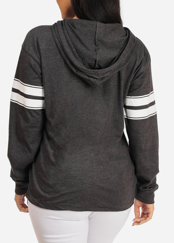 Image of Basic Charcoal Sweatshirt W Hood