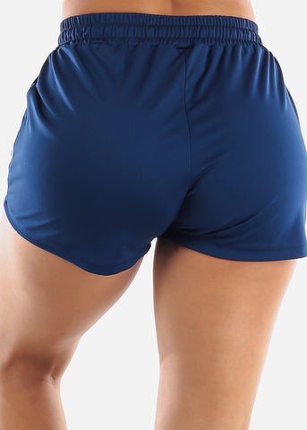 Blue Activewear Shorts