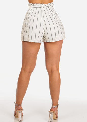 Lightweight Stripe White Skorts
