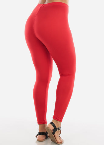 Image of Basic Red Leggings L140RED