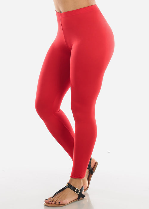Basic Red Leggings L140RED