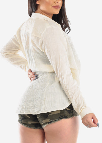 Lightweight Cream Cardigan