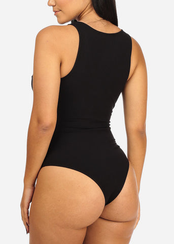 Black Sexy Sleeveless Bodysuit