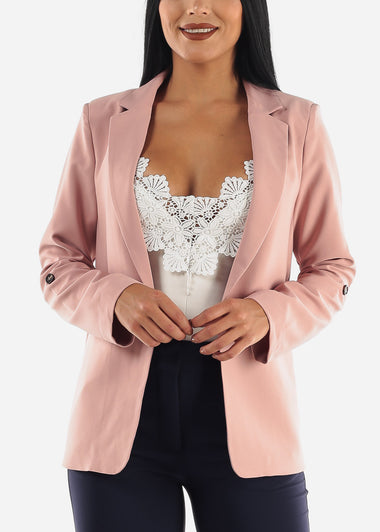 Rose Cuffed Sleeve Blazer