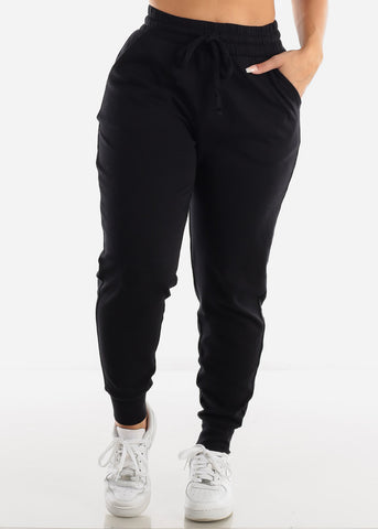 Cotton Black Jogger Sweatpants