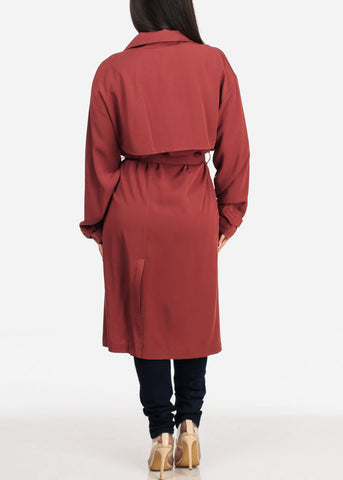 Image of Brick Trench Coat Jacket