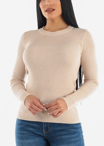 Image of Cozy Classic Ribbed Stretchy Sweater