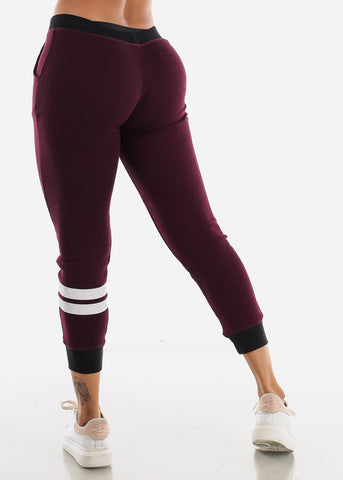 Image of Burgundy Jogger Sweatpants
