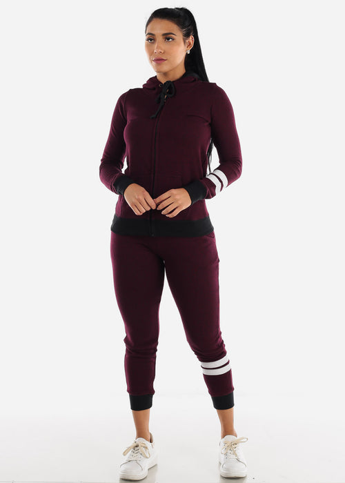 Burgundy Jogger Sweatpants