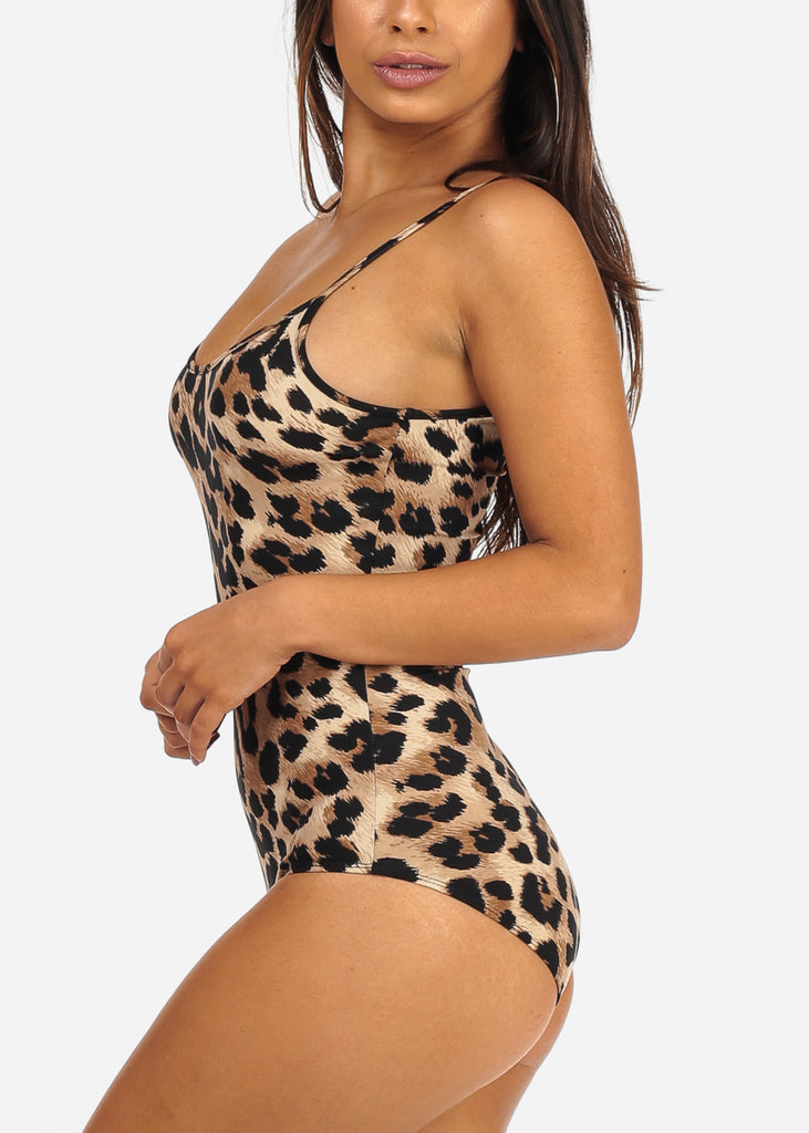 Sexy Spaghetti Strap Animal Print Bodysuit. Double tap to zoom f48c76146
