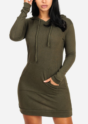Olive Sweater Midi Dress