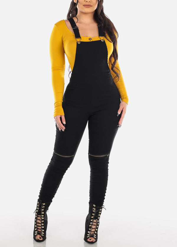 Square Neck Button Up Mustard Bodysuit