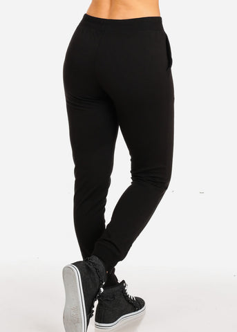 Black Buck Burpees Graphic Skinny Jogger Pants