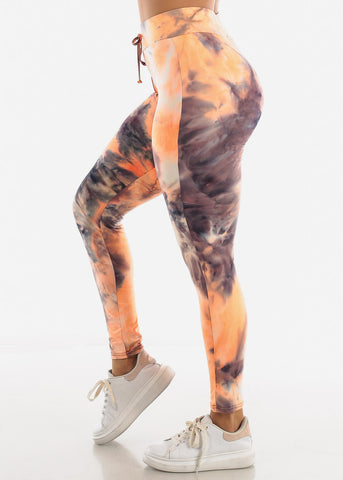 Image of Black Tie Dye Leggings