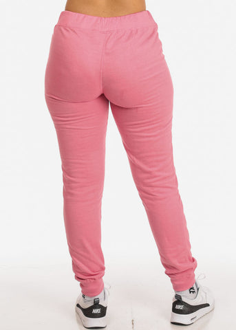 Image of Pink High Rise  Jogger Pants