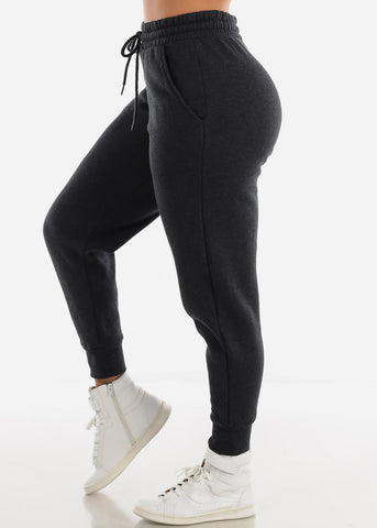 Fleece Charcoal Jogger Sweatpants