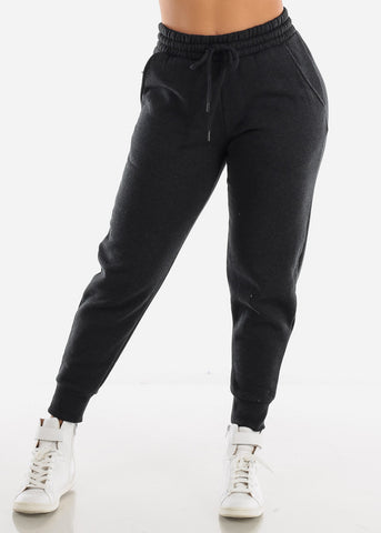 Image of Fleece Charcoal Jogger Sweatpants