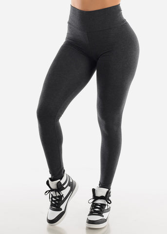 Image of Grey High Waist Leggings