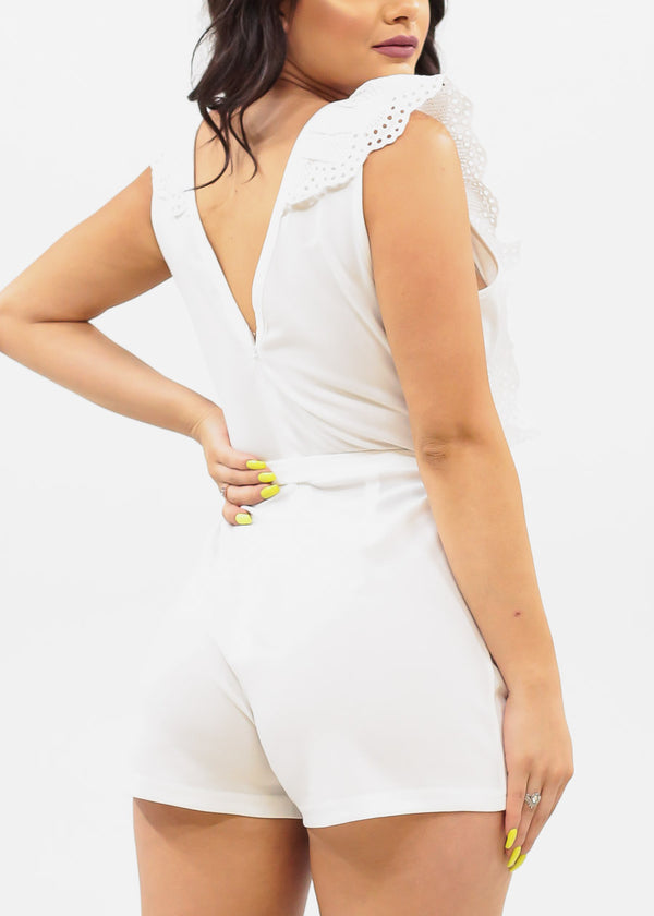 Stylish Summer White Romper