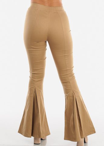 Image of High Rise Khaki Bell Bottom Pants