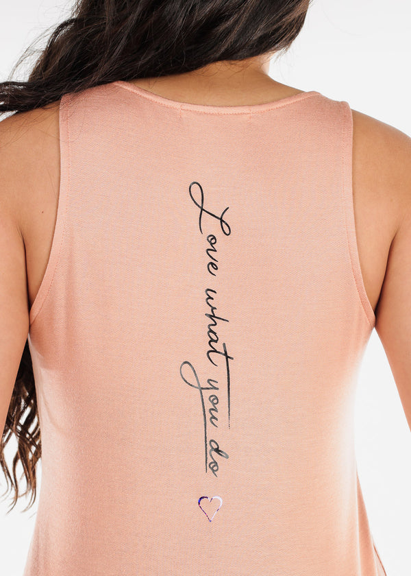 "Flowy Salmon Dress ""Love What You Do"""