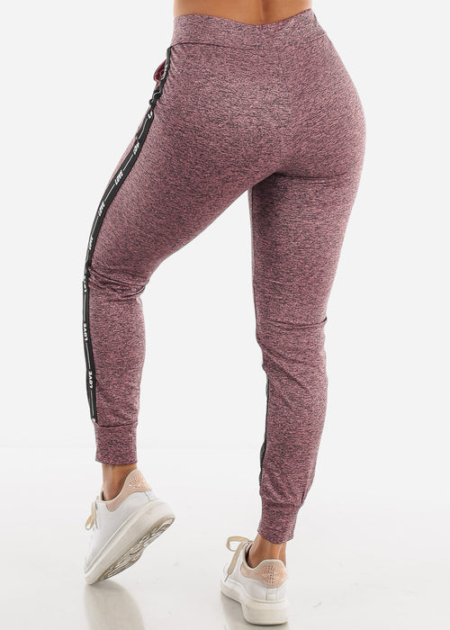 LOVE Colorblock Mauve and Grey Jogger Pants