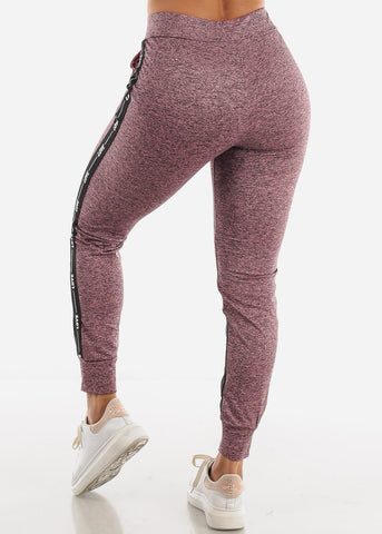 Image of LOVE Colorblock Mauve and Grey Jogger Pants