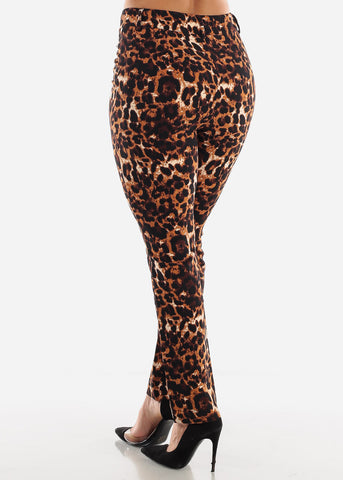 Animal Print Dress Pants