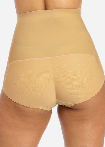 Beige High Waist Butt Booster Underwear