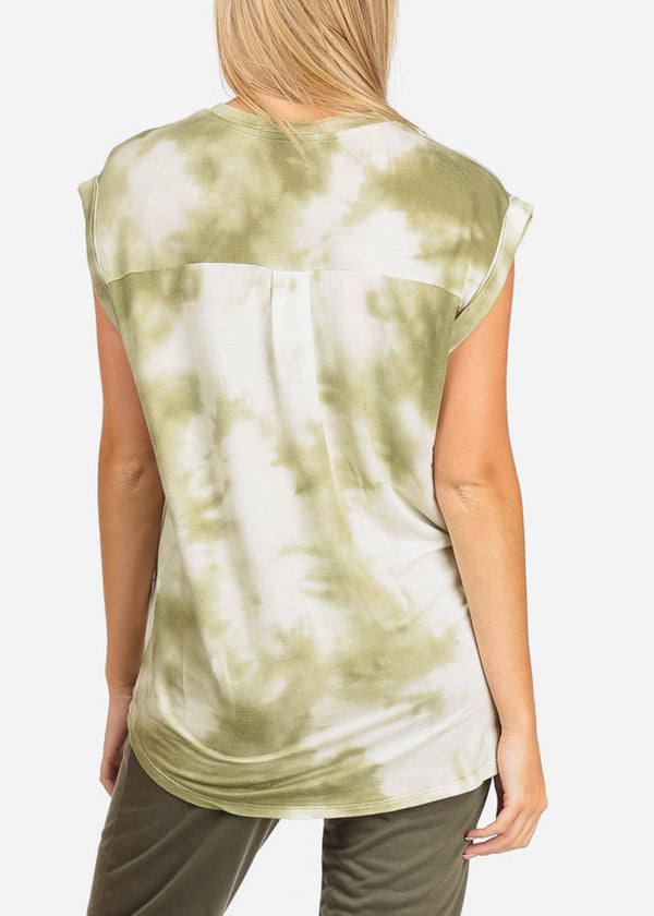 Tie Dye Olive Tunic Top