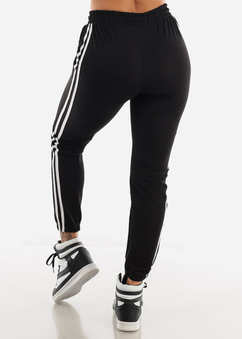 Striped Black Joggers