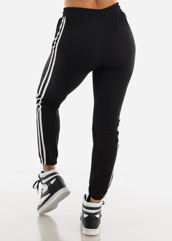 Image of Striped Black Joggers