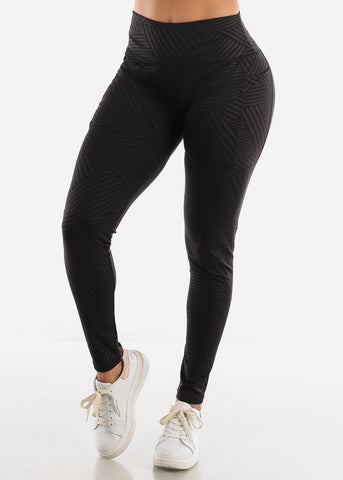 Black Stripe Activewear Leggings