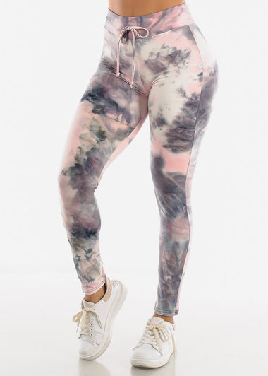 Grey Tie Dye Leggings