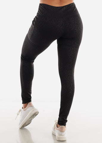 Animal Print Black Activewear Leggings
