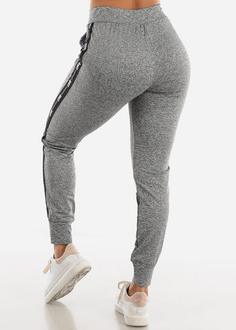 Image of LOVE Colorblock Grey and White Jogger Pants
