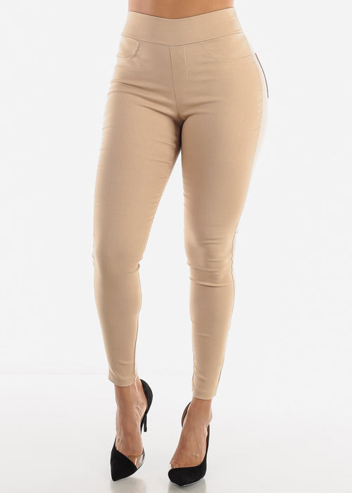 Taupe Stretchy Pants