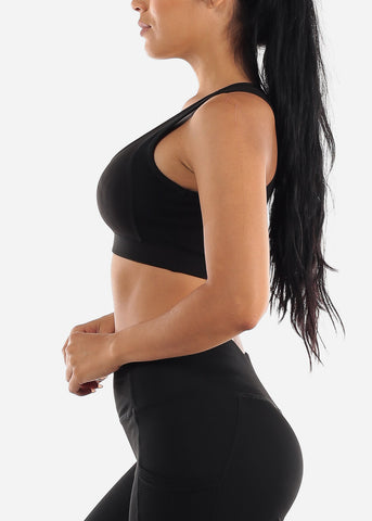 Image of Solid Black Sports Bra