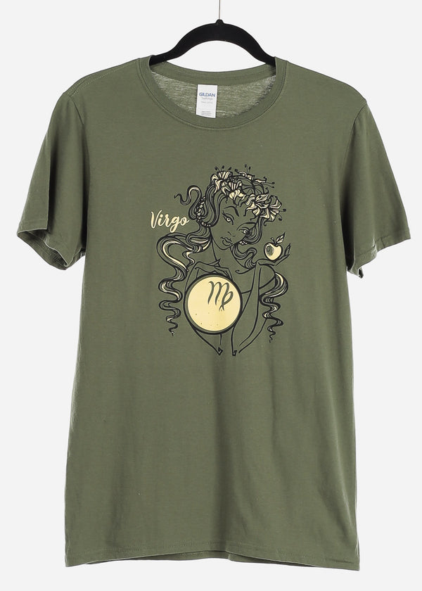 "Olive Graphic T-Shirt ""Virgo"""
