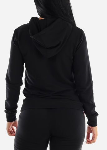 Image of Black Long Sleeve Pullover Top