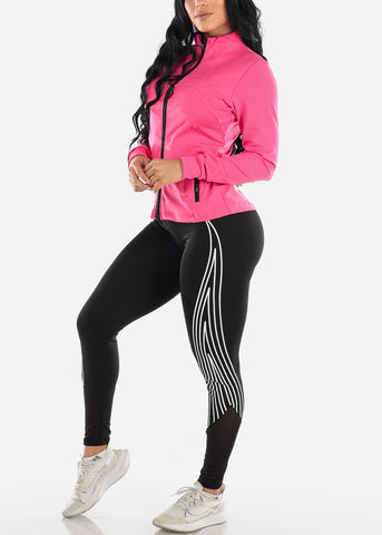 Image of Activewear Zip Up Pink Jacket