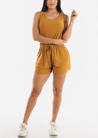 Mustard Sleeveless Romper