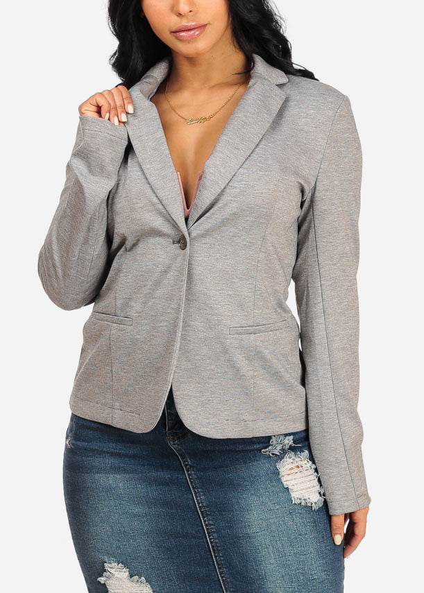 Classic Heather Grey Blazer