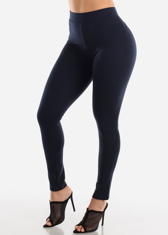 Image of Butt Lifting Navy Skinny Pants