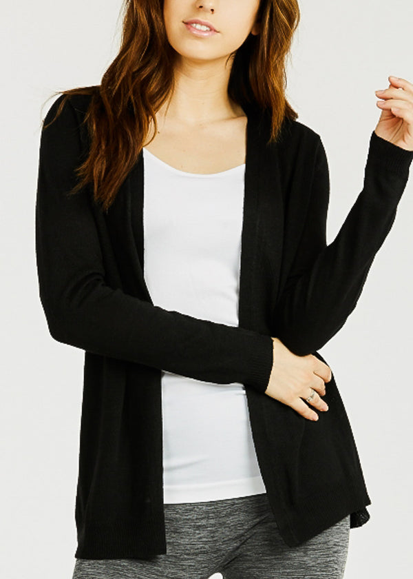Knitted Black Cardigan