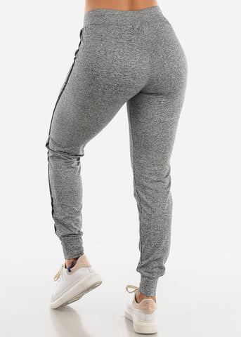 Image of Heather Grey Side Stripe Joggers