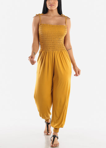 Sleeveless Mustard Jumpsuit